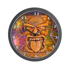 Tiki God Wall Clock