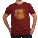 Tiki God Men's Fitted T-Shirt (dark)