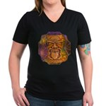 Tiki God Women's V-Neck Dark T-Shirt