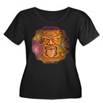 Tiki God Women's Plus Size Scoop Neck Dark T-Shirt