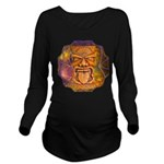 Tiki God Long Sleeve Maternity T-Shirt