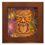 Tiki God Framed Tile