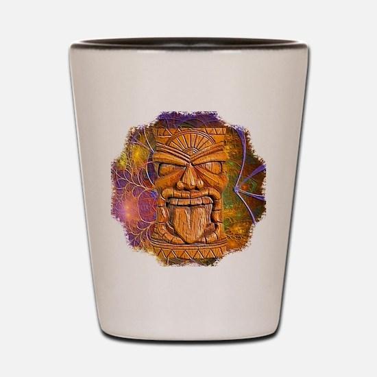 Tiki God Shot Glass