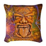 Tiki God Woven Throw Pillow