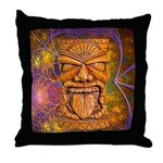 Tiki God Throw Pillow