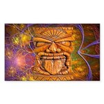 Tiki God Sticker (Rectangle)