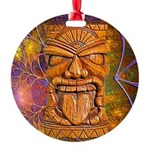 Tiki God Round Ornament
