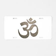 Namaste Symbol Aluminum License Plate