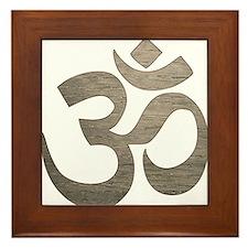 Namaste Symbol Framed Tile