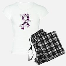 Peace Love Cure Yudu Purple Pajamas