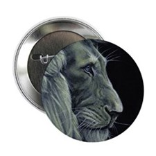 "Golden Lion 2.25"" Button"
