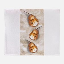 horseshoe crab Throw Blanket