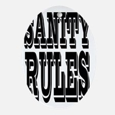 SANITYrules Oval Ornament