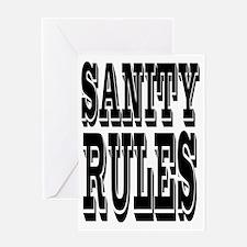 SANITYrules Greeting Card