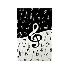 Stylish random musical notes Magnets