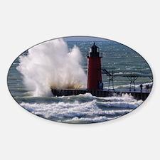 0001-Lighthouse (110) Sticker (Oval)