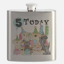 Dogs 5th Birthday Flask