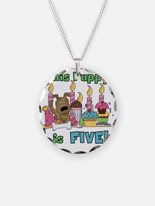 5th Puppy Birthday Necklace