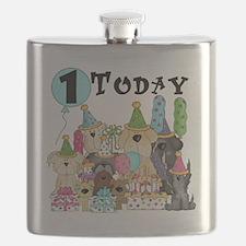 Dogs 1st Birthday Flask