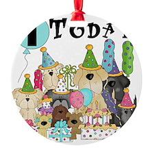 Dogs 1st Birthday Ornament
