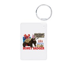 Honey Badger Happy Freakin' Birthday Keychains