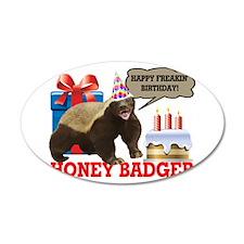 Honey Badger Happy Freakin' Birthday Wall Decal