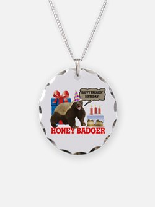 Honey Badger Happy Freakin' Birthday Necklace