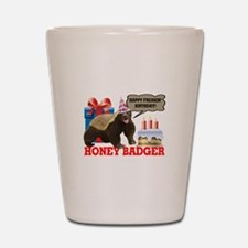 Honey Badger Happy Freakin' Birthday Shot Glass