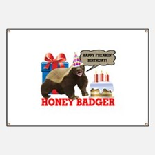 Honey Badger Happy Freakin' Birthday Banner