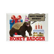 Honey Badger Happy Freakin' Birthday Rectangle Mag