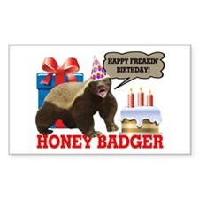 Honey Badger Happy Freakin' Birthday Decal