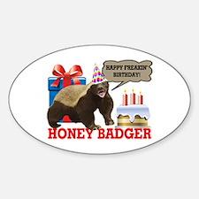 Honey Badger Happy Freakin' Birthday Decal