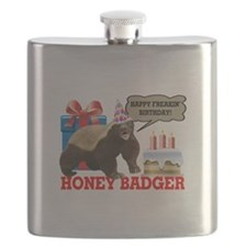 Honey Badger Happy Freakin' Birthday Flask