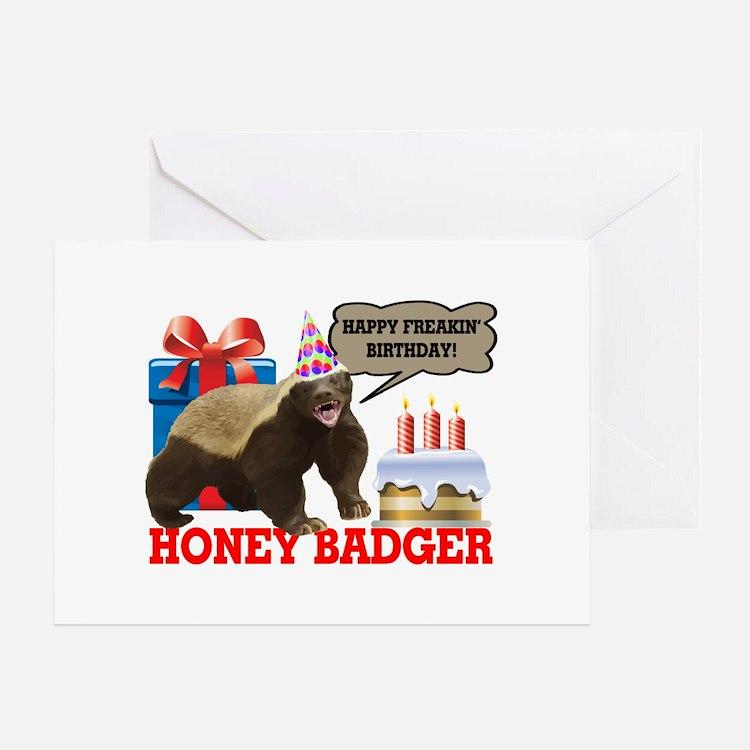 Honey Badger Happy Freakin' Birthday Greeting Card