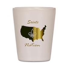 Saints nation Shot Glass