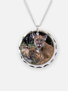 yule mt lions Necklace Circle Charm