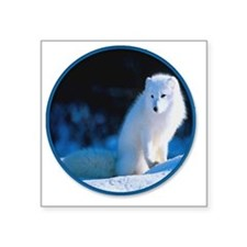 "yule snow fox1 Square Sticker 3"" x 3"""