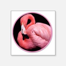 "yule flamingo Square Sticker 3"" x 3"""