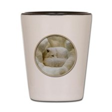 yule snow fox2 Shot Glass