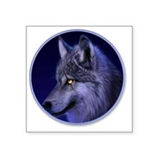 "yule wolf Square Sticker 3"" x 3"""