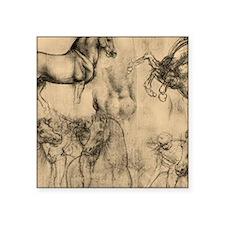 "Leonardo da Vinci' Horse Square Sticker 3"" x 3"""