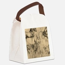 Leonardo da Vinci' Horse Canvas Lunch Bag