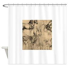 Leonardo da Vinci' Horse Shower Curtain