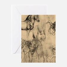 Leonardo da Vinci' Horse Greeting Card
