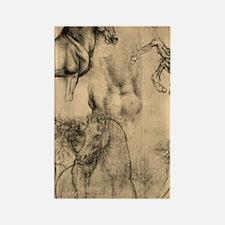 Leonardo da Vinci' Horse Rectangle Magnet