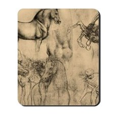 Leonardo da Vinci' Horse Mousepad