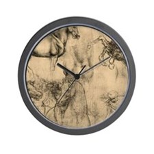 Leonardo da Vinci' Horse Wall Clock
