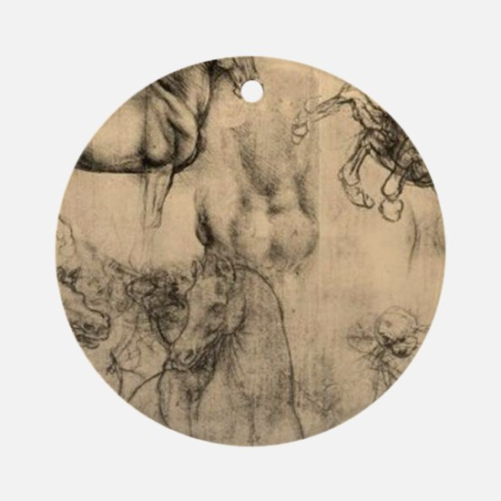 Leonardo da Vinci' Horse Round Ornament