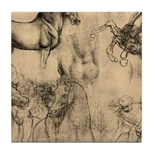 Leonardo da Vinci' Horse Tile Coaster