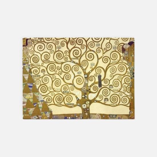 Tree of Life by Gustav Klimt 5'x7'Area Rug